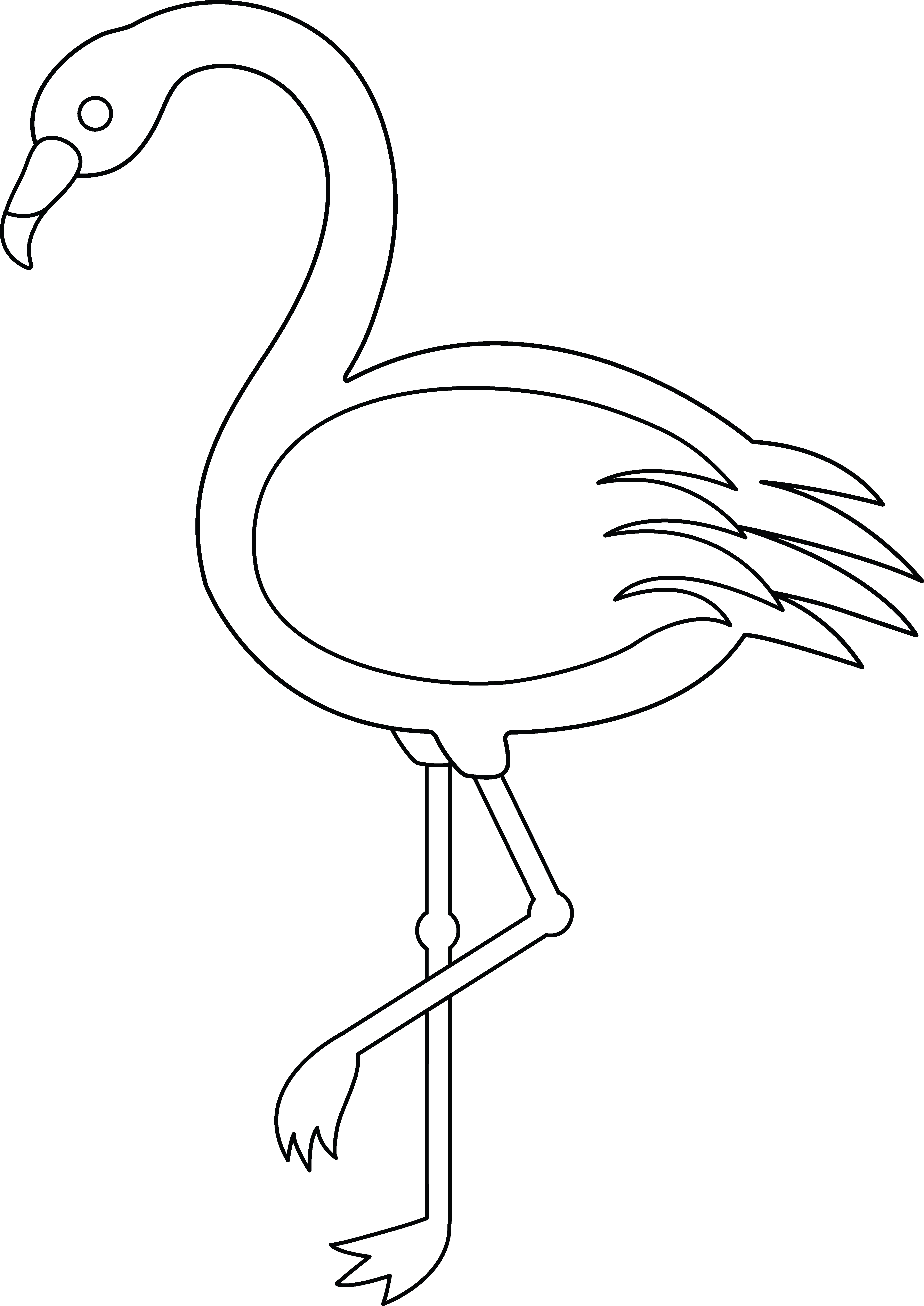 Black and white clipart flamingo banner royalty free stock Flamingo black and white clipart clipart images gallery for free ... banner royalty free stock