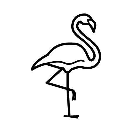 Black and white clipart flamingo graphic library download Flamingo clipart black and white 4 » Clipart Portal graphic library download