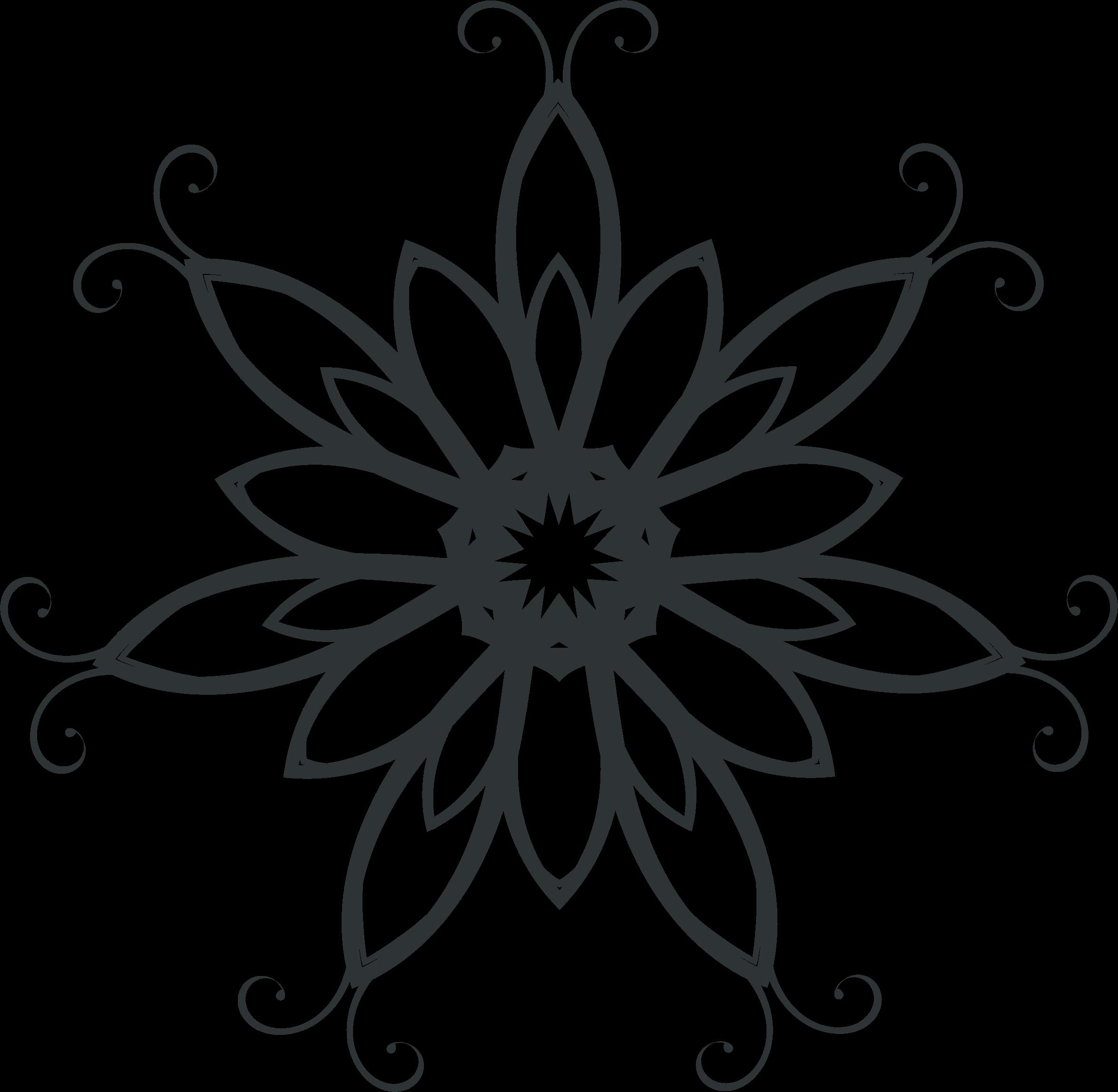 Black and white clipart flourish with sun clip art library library Clipart - Silhouette Flourish Design 3 clip art library library
