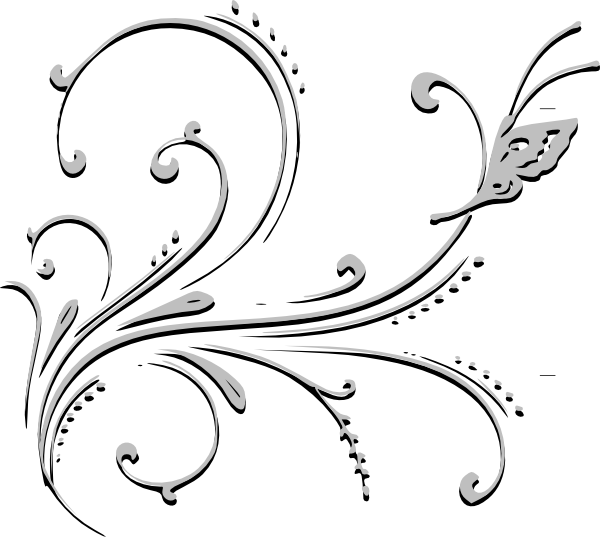 Flower clipart black and white png. Clip art at clker