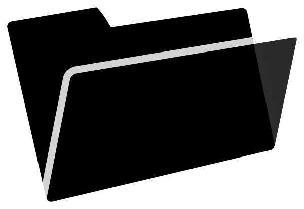 Black and white clipart folder clipart royalty free library Black And White Folder Clip Art at Clker.com - vector clip art ... clipart royalty free library