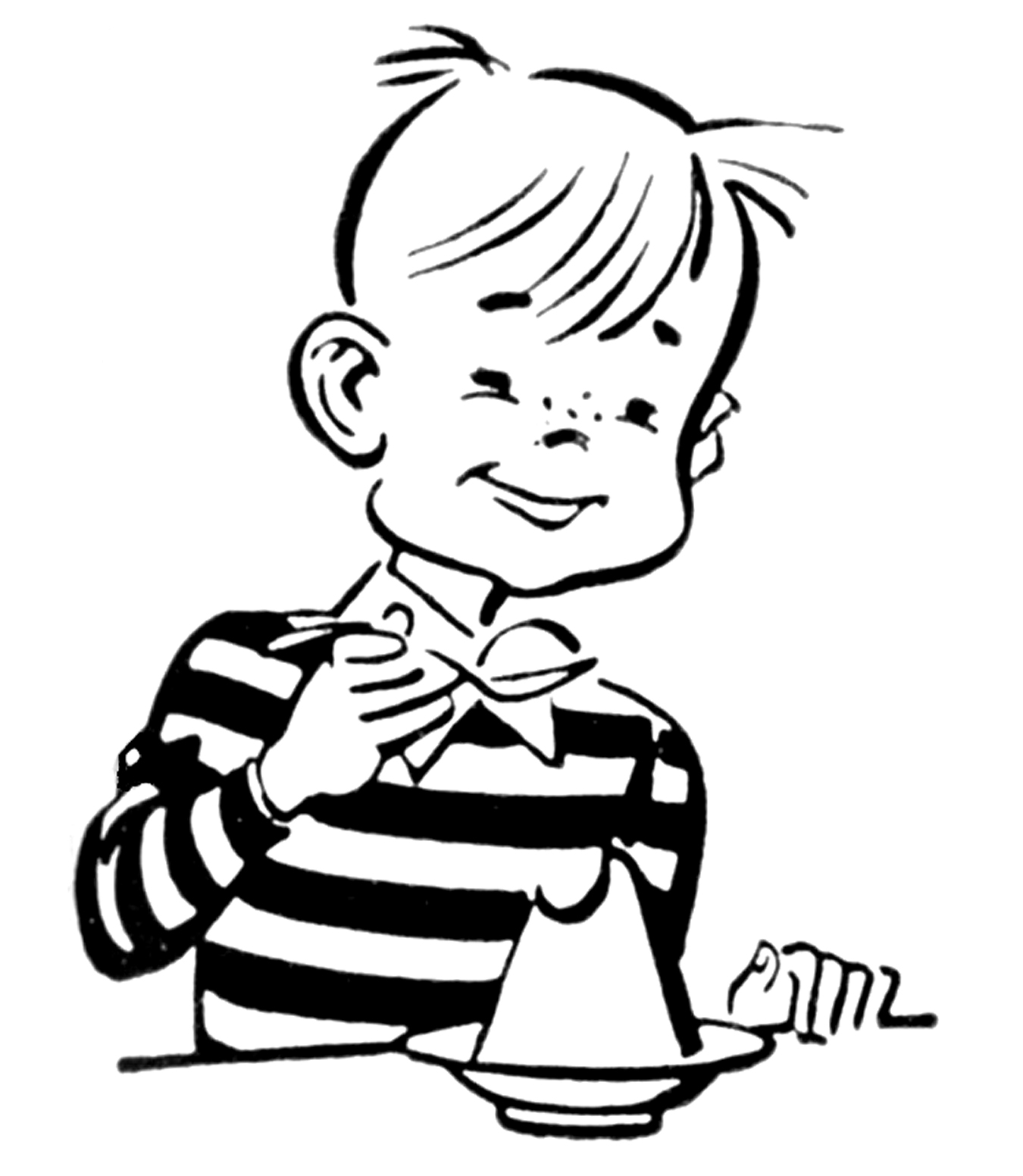 Eating ice cream clipart black and white jpg black and white Kid Eating Clipart Black And White | Clipart Panda - Free Clipart Images jpg black and white