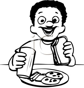 Free clipart black and white outline kid eating supper clip free Child Clipart Black And White | Free download best Child Clipart ... clip free
