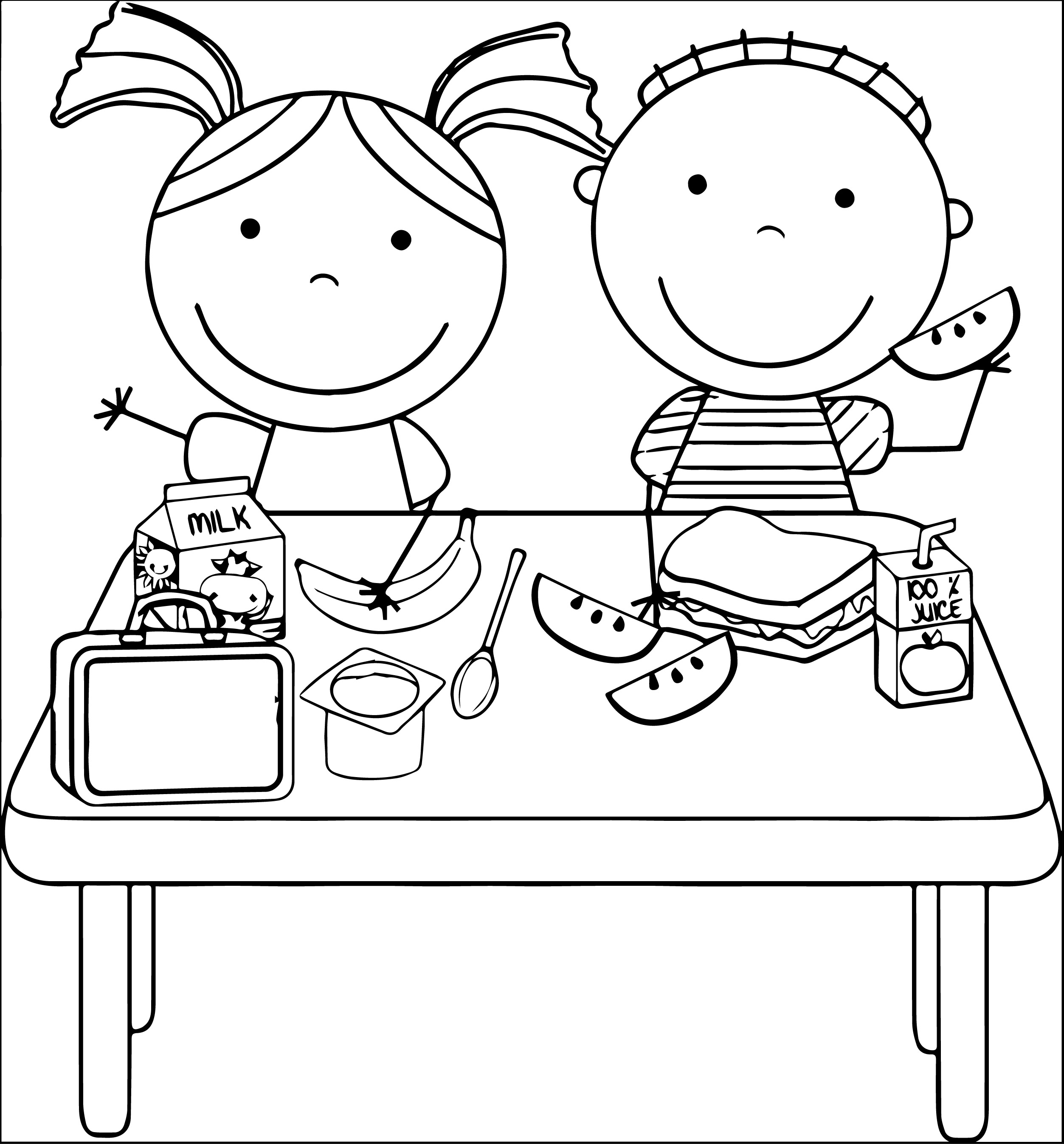 Black and white clipart for child eating clip freeuse stock Free Eat Black And White Clipart, Download Free Clip Art, Free Clip ... clip freeuse stock