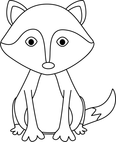 Sitting black and white baby fox clipart freeuse download Black and White Fox | PreSchool Fun {Clipart Fun} | Fox images, Clip ... freeuse download
