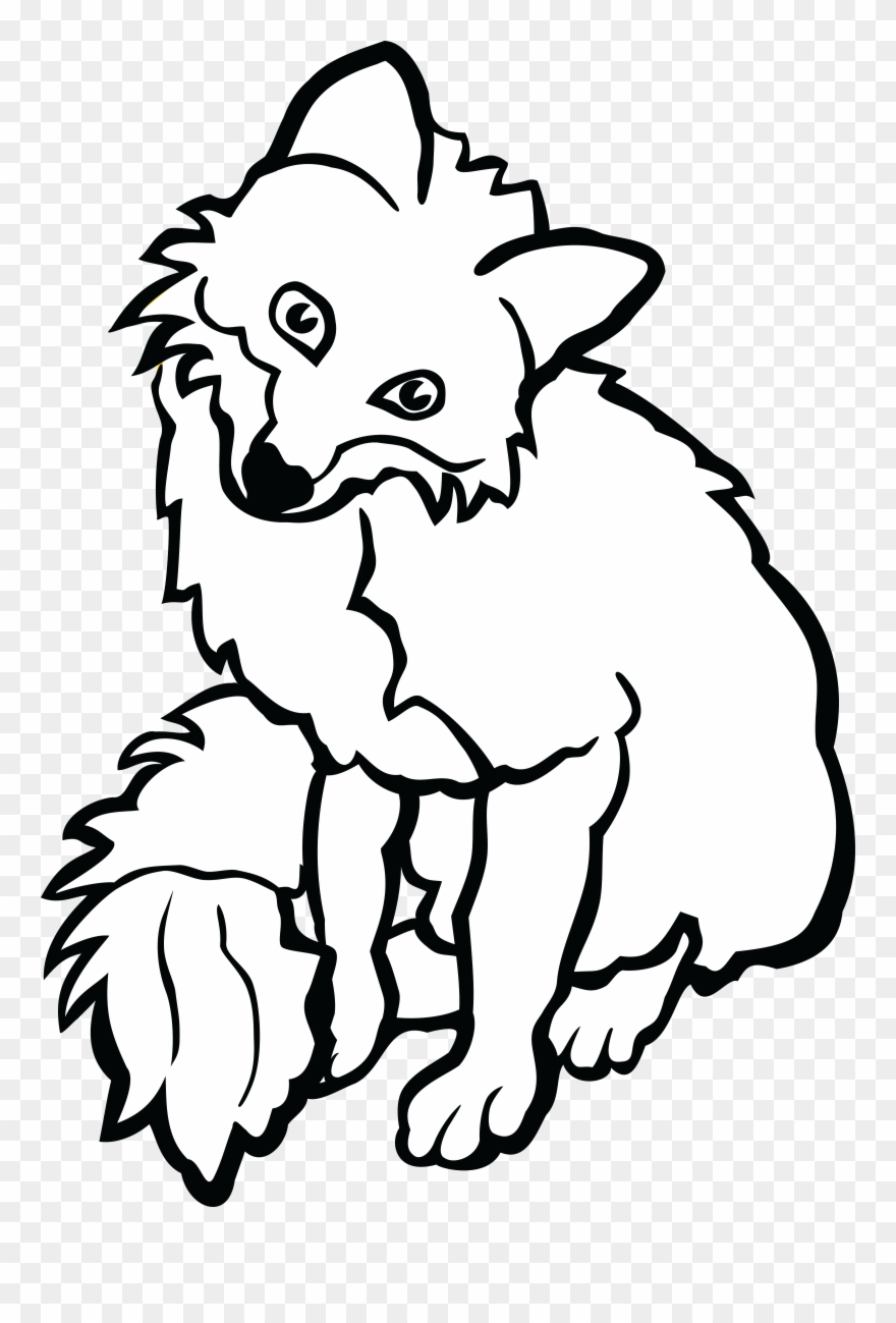 Black and white clipart fox image freeuse stock Black And White Fox Drawing | Free download best Black And White Fox ... image freeuse stock