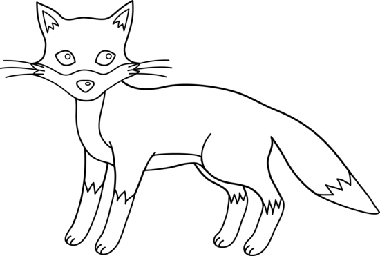 Black and white clipart fox graphic free library Fox black and white cute fox black and white clipart - WikiClipArt graphic free library
