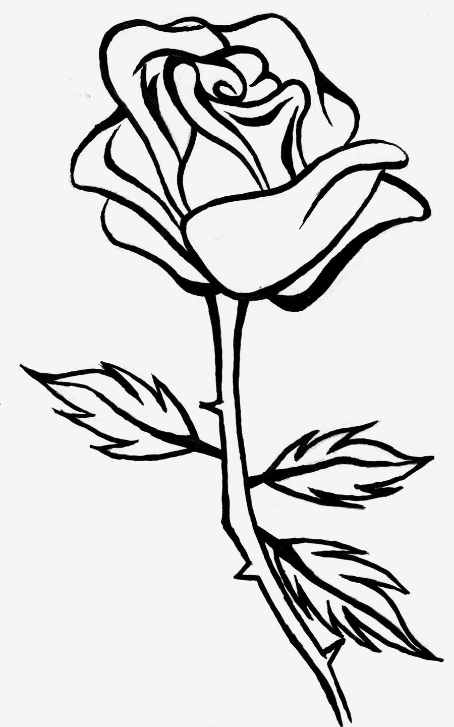 Rose clipart black and white clipart free download - ClipartPost svg transparent library