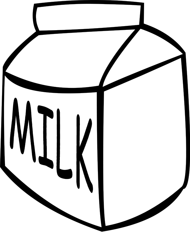 Milk Clipart Black And White Free Download & Free Clip Art Images ... image freeuse