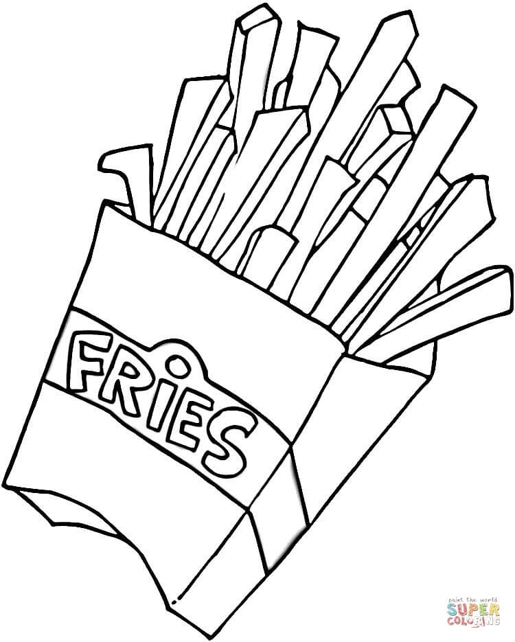 Fries black and white clipart vector black and white French Fries Clipart Black And White – Pencil And In Color French ... vector black and white