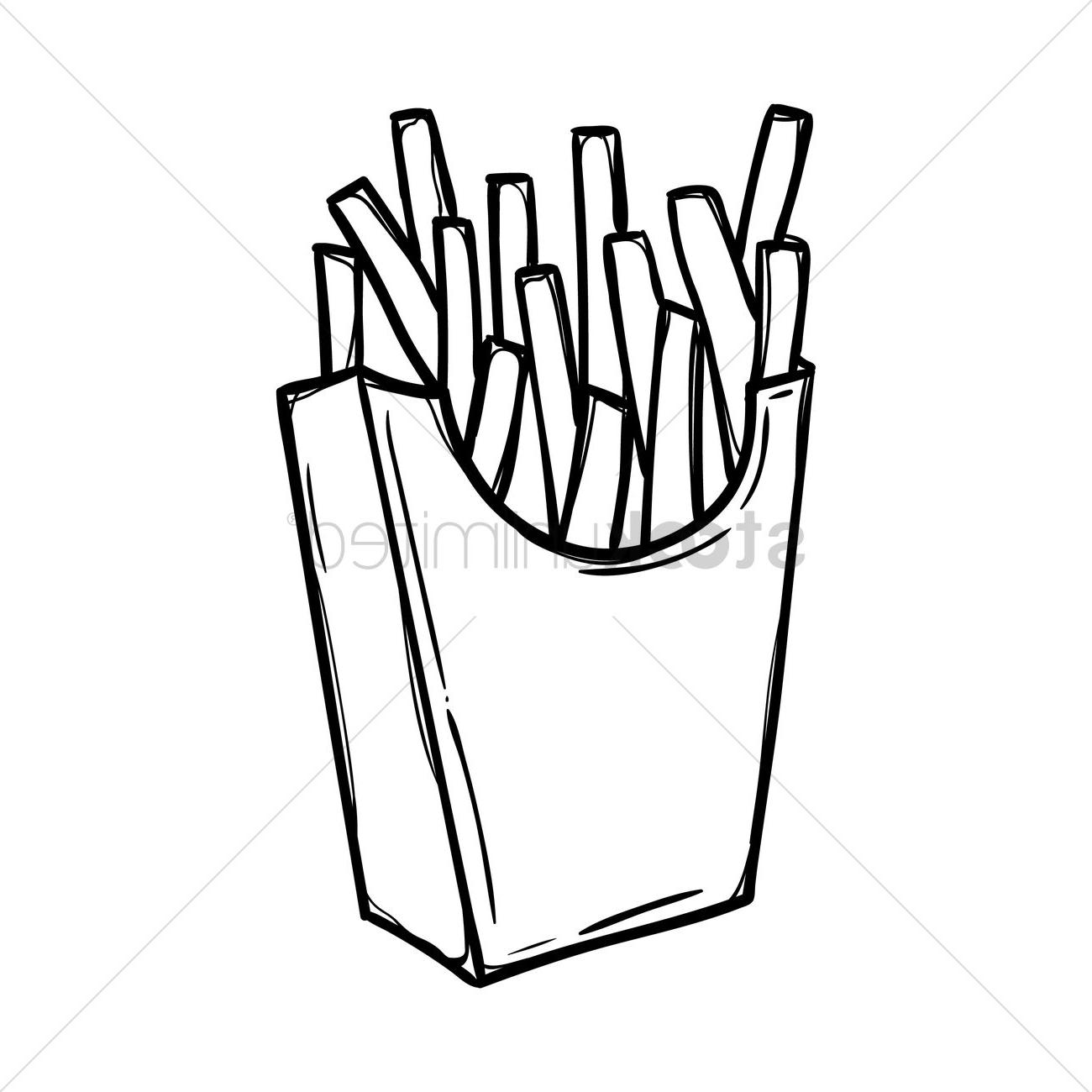 Fries black and white clipart transparent library Coloring Ideas : Top French Pictures Fries Coloring Pages Ideas ... transparent library