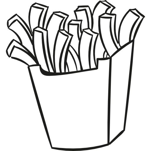 Fries black and white clipart clipart freeuse library Fries Drawing | Free download best Fries Drawing on ClipArtMag.com clipart freeuse library