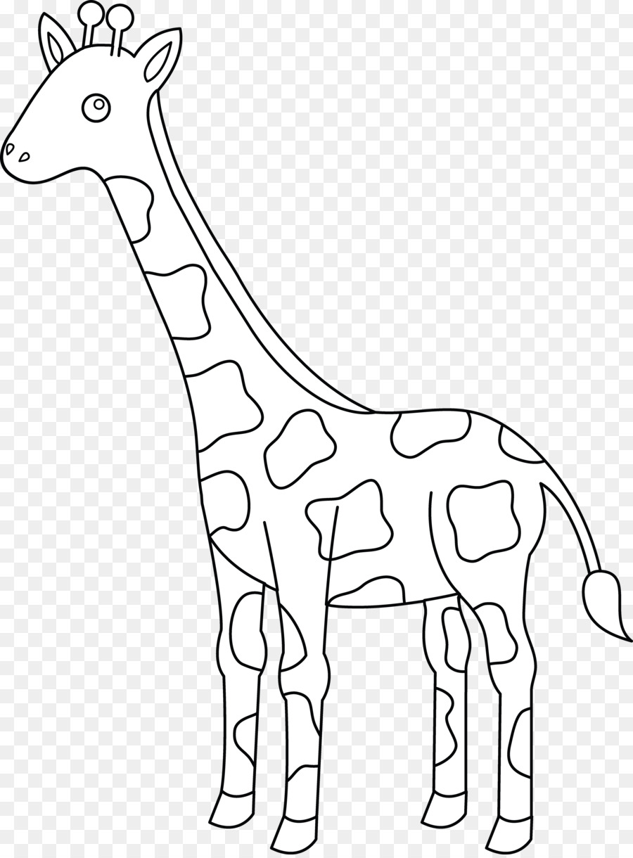 Black and white giraffee clipart