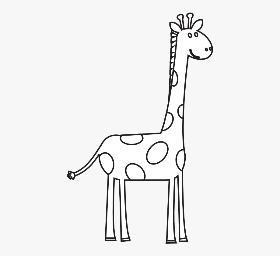Black and white clipart giraffe clip library download Black And White Animal Clipart - Black And White Giraffe Clip Art ... clip library download