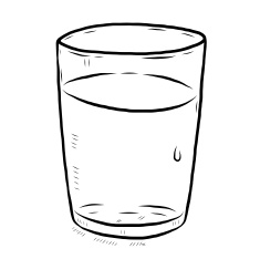 Glass of water black and white clipart clipart transparent stock Glass black and white clipart 9 » Clipart Station clipart transparent stock
