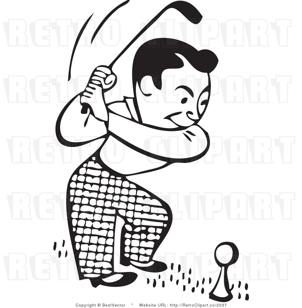 Free black and white golf clipart.  clip art clipartlook