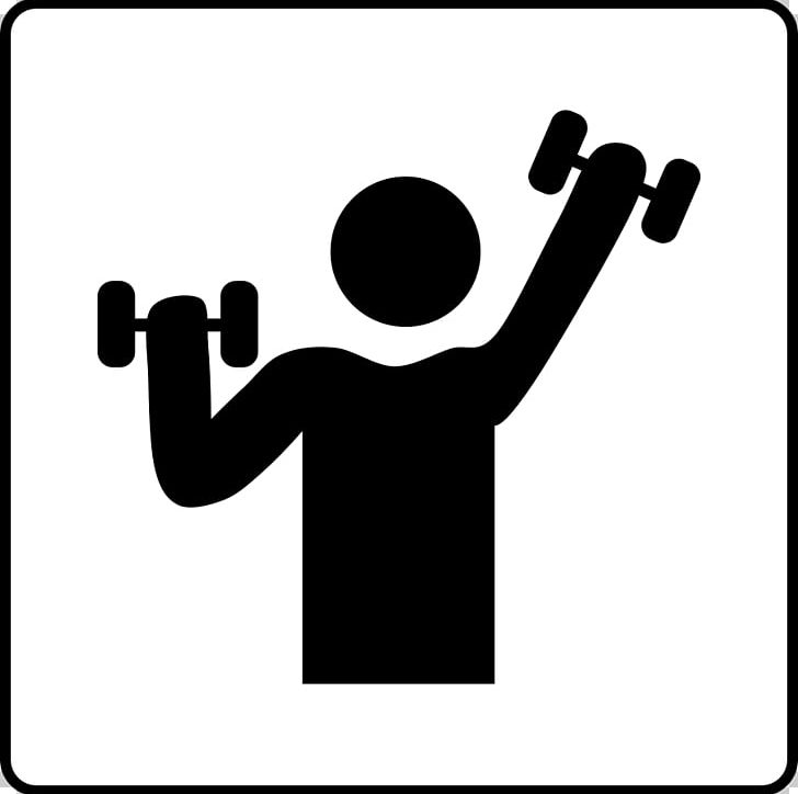 Black and white clipart gymnasium svg black and white library Fitness Centre Golds Gym Dumbbell Physical Exercise PNG, Clipart ... svg black and white library