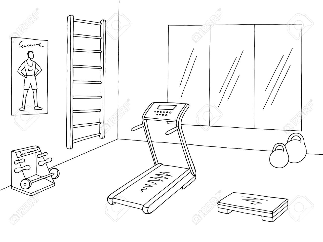 Black and white clipart gymnasium clip art black and white Gym clipart black and white 5 » Clipart Station clip art black and white