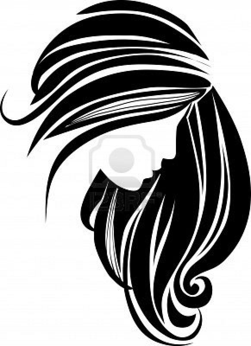 Hair comb over clipart black and white clip art freeuse library Black Hair Clipart | Clipart Panda - Free Clipart Images | Salon ... clip art freeuse library