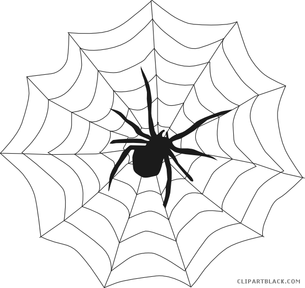 Halloween spider clipart black and white vector black and white Halloween Spider Animal free black white clipart images clipartblack ... vector black and white