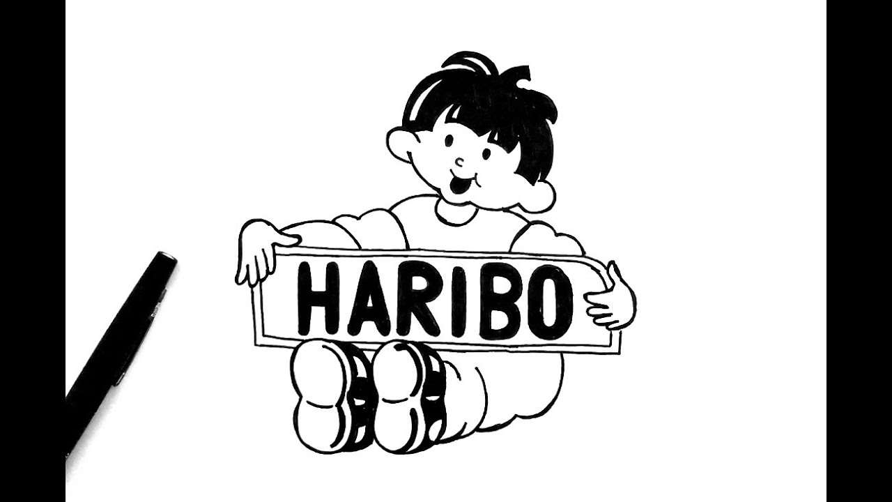 Black and white clipart haribo vector free stock How to draw Haribo Logo vector free stock