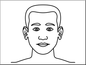 Black and white clipart head png royalty free stock Clip Art: Parts of the Body: Head B&W Unlabeled I abcteach.com ... png royalty free stock