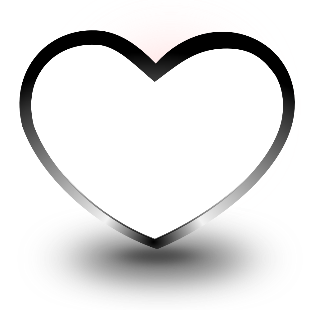 Coloring book drawing clip. Football heart clipart black and white
