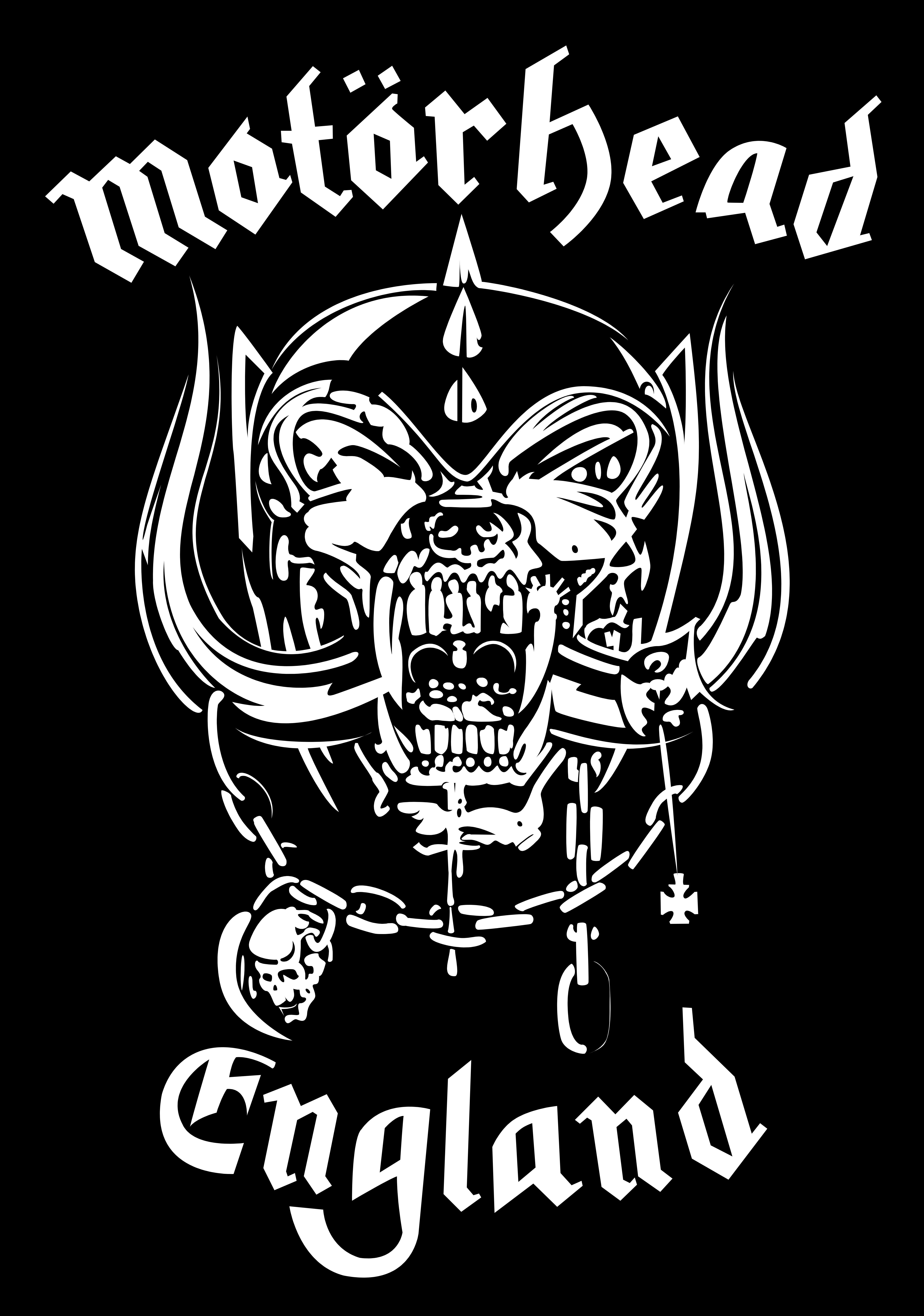 Black and white clipart high resolution motorhead image transparent library Motorhead snaggletooth Logos image transparent library