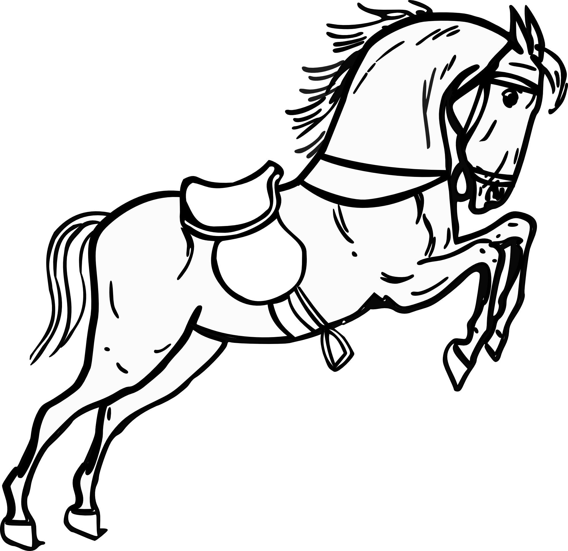 Black and white clipart horse vector free Horse Clip Art Black And White | Clipart Panda - Free Clipart Images vector free