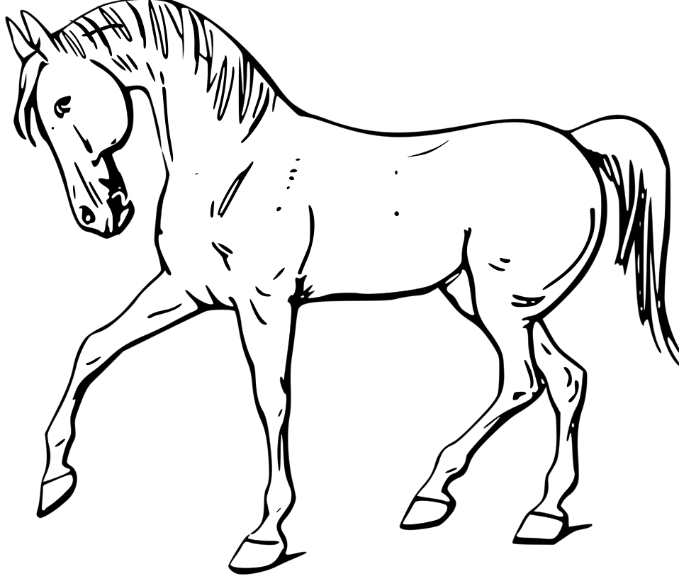 Black and white clipart horse graphic royalty free download 54+ Horse Clipart Black And White | ClipartLook graphic royalty free download