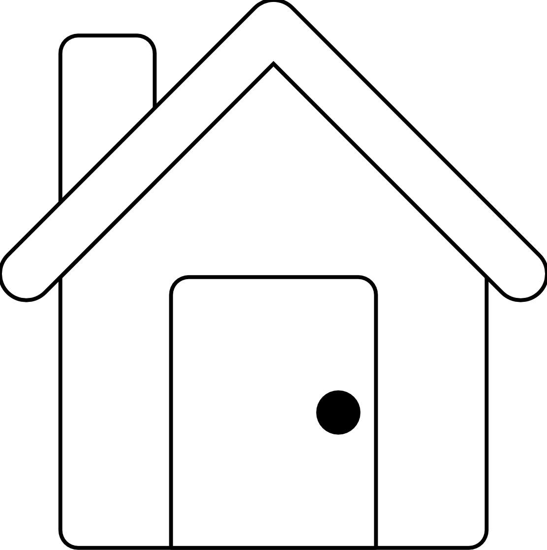 House outline clipart free jpg freeuse stock House Outline Clipart Black And White | Clipart Panda - Free Clipart ... jpg freeuse stock