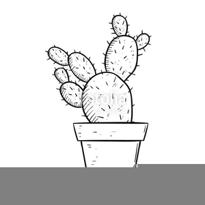 Black and white clipart image of catus flowers clip library Flower Pot Clipart Black And White | Free Images at Clker.com ... clip library