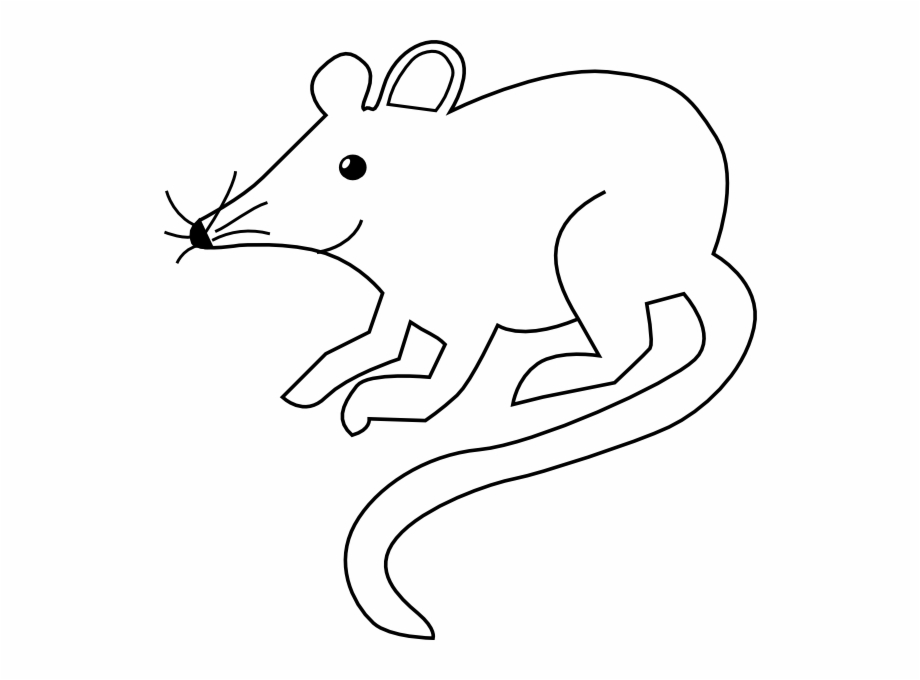 Black and white clipart image of rat clip download Picture Black And White Mice Clipart Outline - Rat Black And White ... clip download