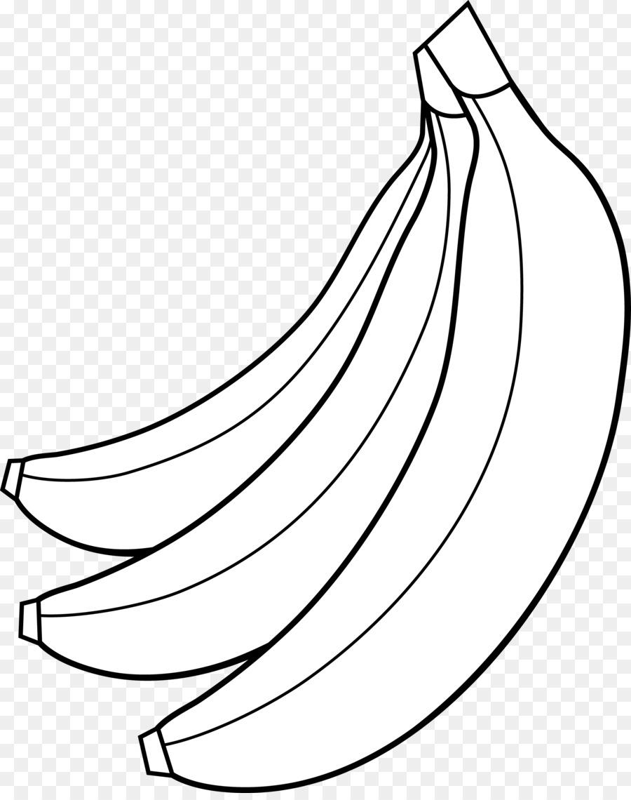 Black and white clipart images of banana jpg transparent download Banana Clipart Black And White png download - 3631*4559 - Free ... jpg transparent download
