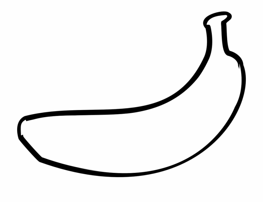 Black and white clipart images of banana svg black and white stock Banana Clipart Outline - Banana Outline White {#5366269} - Pngtube svg black and white stock