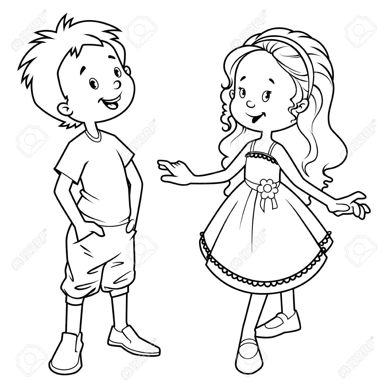 Black and white clipart images of boys and girls picture library download Boy And Girl Clipart Black And White (94+ images in Collection) Page 1 picture library download