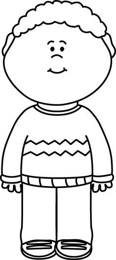 Little boy clipart black and white clipart black and white download Black and white clipart of boy and girl 4 » Clipart Portal clipart black and white download