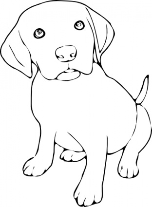 Clipart picture of dog black and white svg freeuse library Free Black And White Dog Pictures, Download Free Clip Art, Free Clip ... svg freeuse library