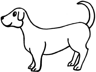 Free blackline clipart for dogs. Dog clip art black