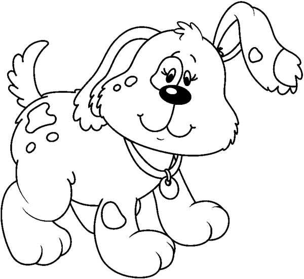 Black and white clipart images of dog