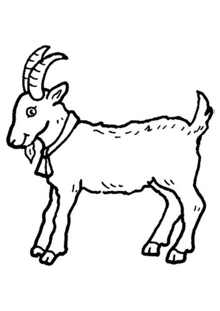 Black and white clipart images of goat jpg black and white download Clipart black and white goat 5 » Clipart Portal jpg black and white download