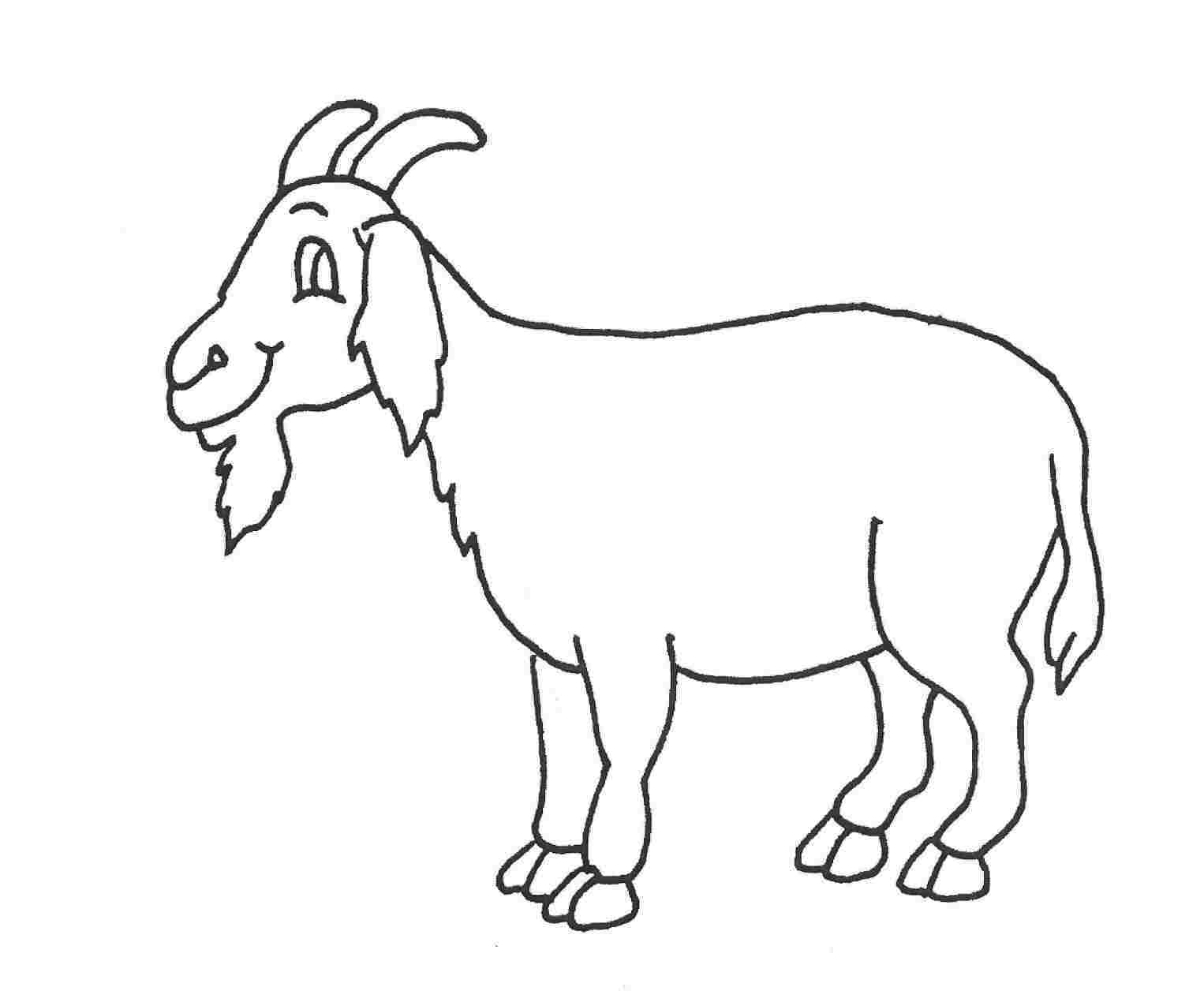 Black and white clipart images of goat picture freeuse Clipart goat black and white 6 » Clipart Portal picture freeuse