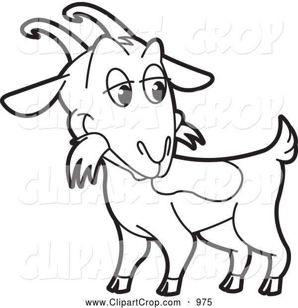 Black and white clipart images of goat free Clip Art Vector of a Black and White Goat | Clip Art | Goats, Free ... free