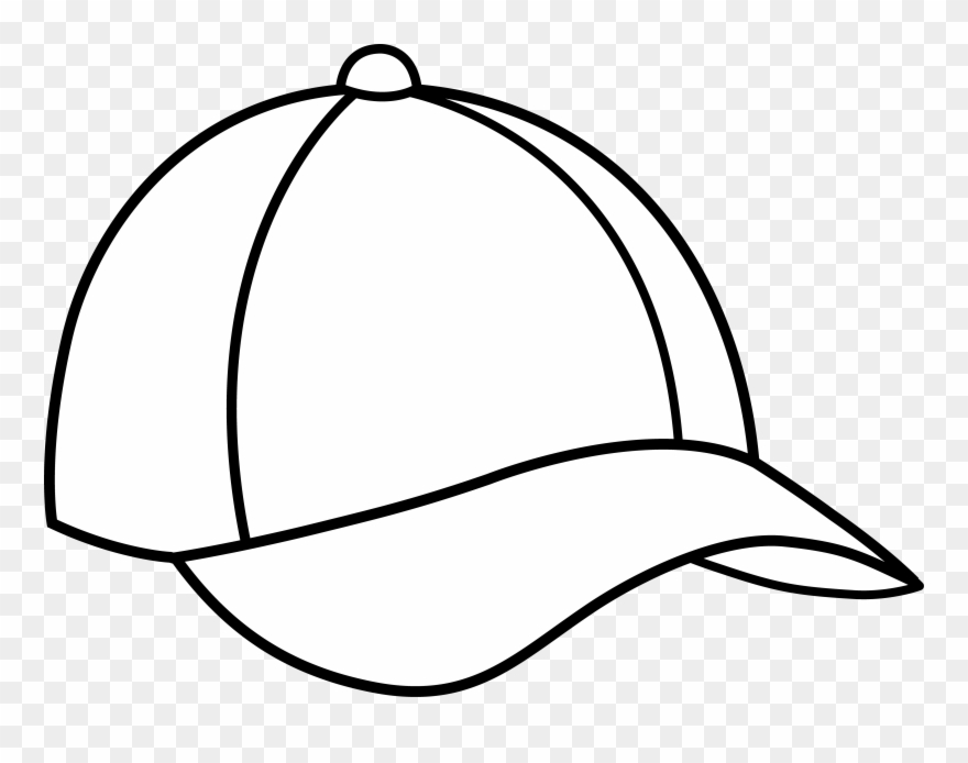 White baseball hat clipart svg freeuse library Baseball - Cap Black And White Clipart (#53365) - PinClipart svg freeuse library