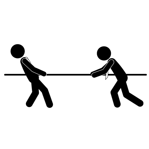 Black and white clipart images tug of war png freeuse download Tug Of War PNG Black And White Transparent Tug Of War Black And ... png freeuse download