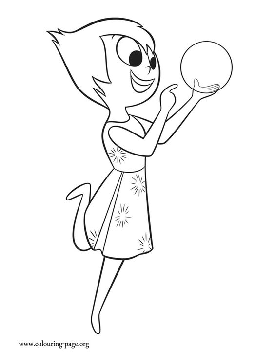 Black and white clipart inside out disney graphic transparent In this amazing picture, Joy is playing with a glowing light. Come ... graphic transparent