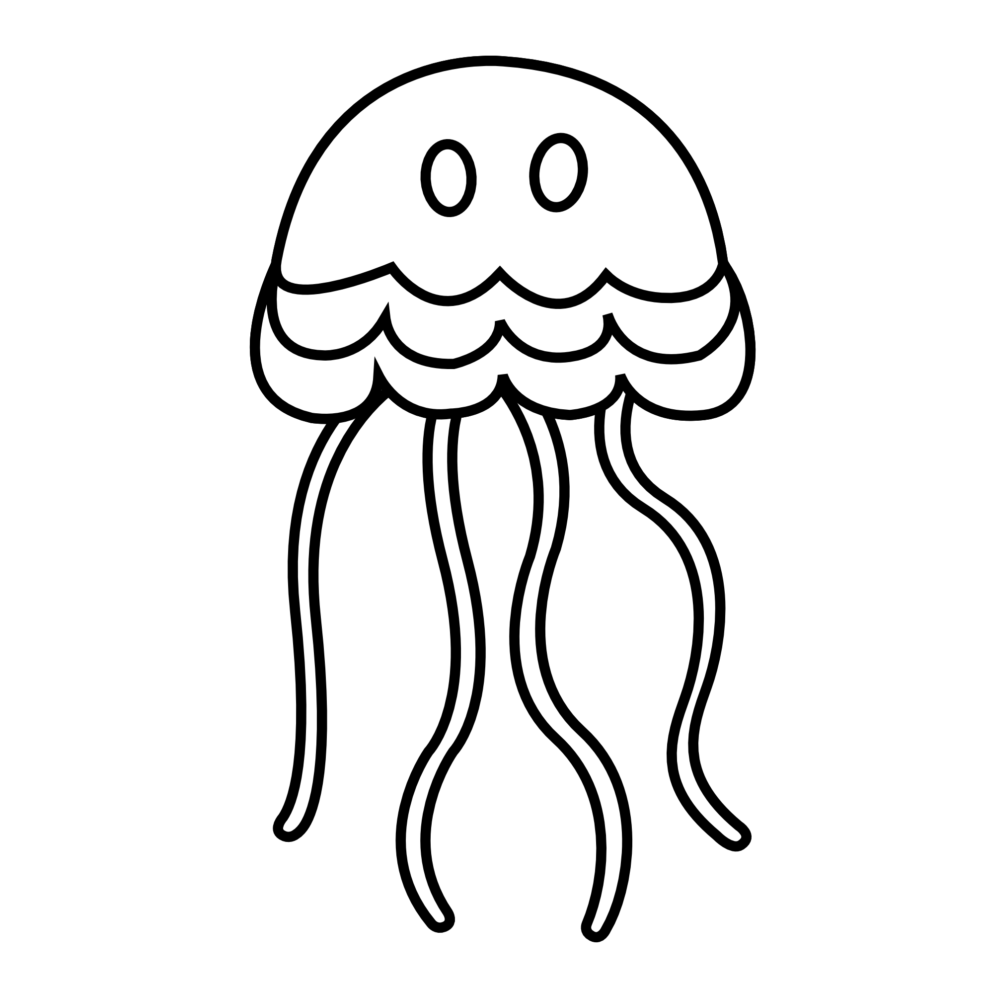 Jellyfish Black And White Clipart clip royalty free download