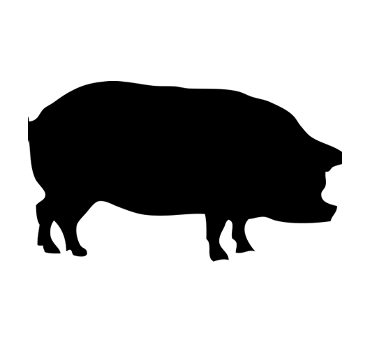 Black and white clipart jesus and the pigs vector free stock Clip art Silhouette Guinea pig Large White pig Vector graphics ... vector free stock