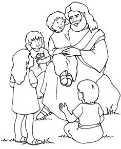 Black and white clipart jesus with children svg free library 83 Best Clip Art for Primary Sharing Time images in 2014 | Lds ... svg free library