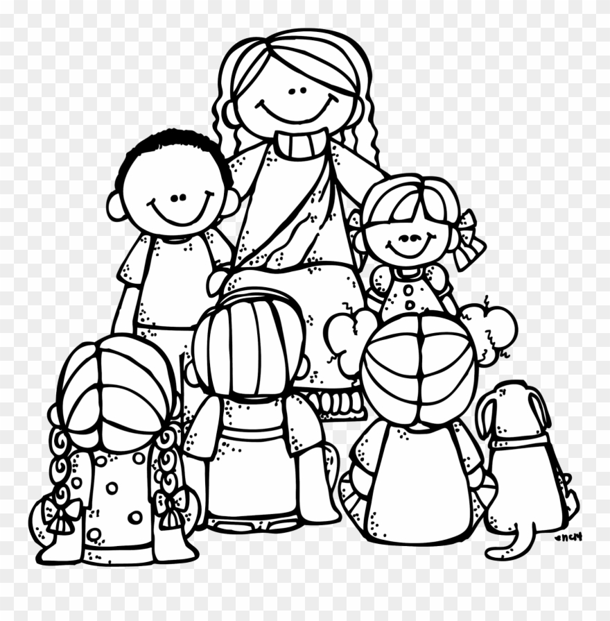 Black and white clipart jesus with children graphic freeuse download Prophecy Clipart Jesus Child - Love God Coloring Pages - Png ... graphic freeuse download